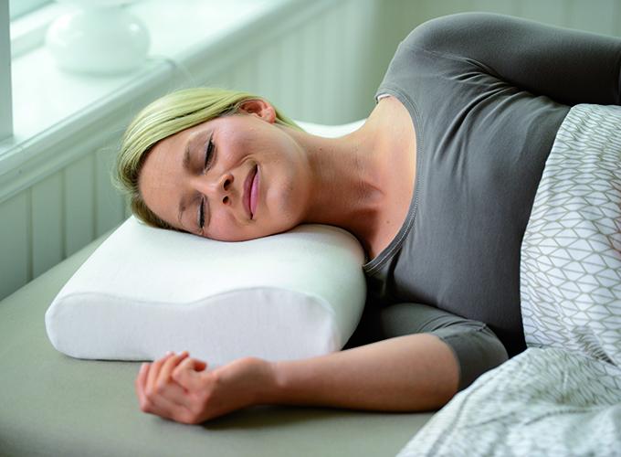 Sissel Soft Curve Compact, ortopedski jastuk, uključuje velur navlaku