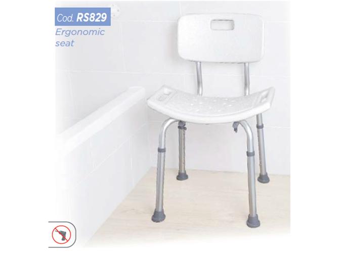 Stolac za tuširanje s naslonom RS829